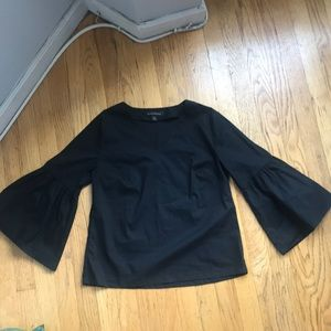 Banana Republic Tops - Banana Republic black bell sleeve top XS